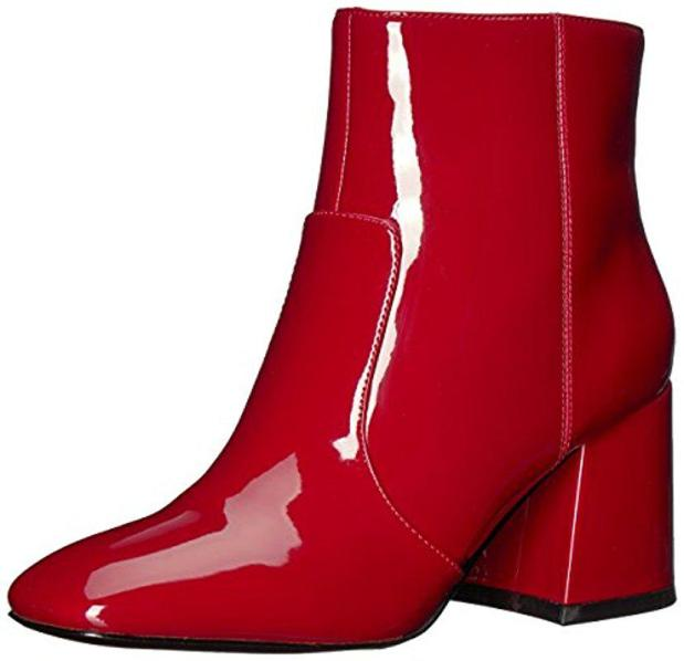 nine-west-Red-Synthetic-Announcer-Synthetic-Ankle-Boot